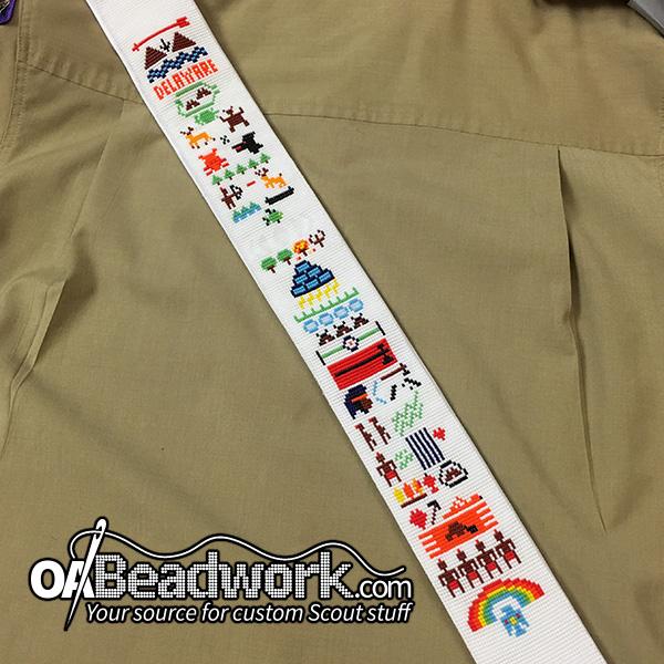 Customized Fully Beaded O B V Sash Oabeadwork Com