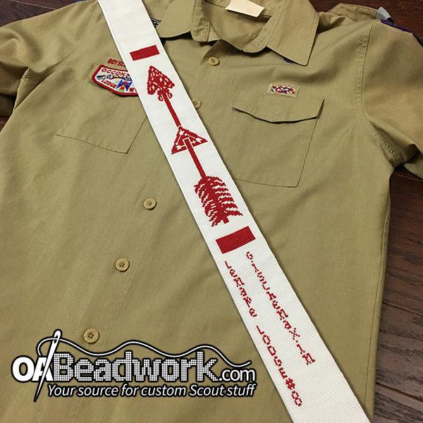 OA Beadwork fully beaded sash